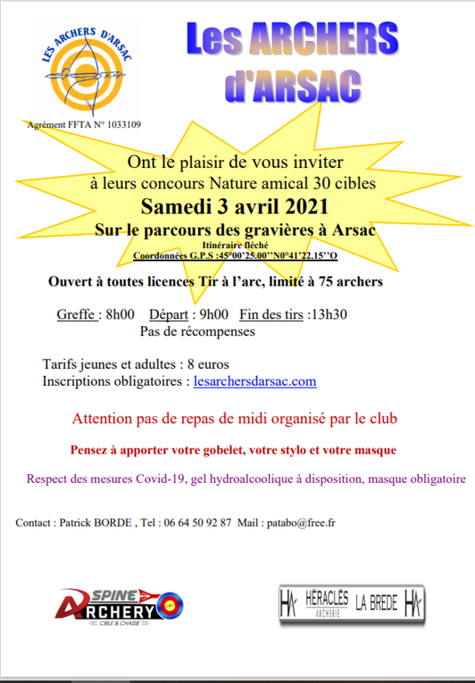 Tournoi amical Nature  samedi  3 avril 2021. Inscriptions